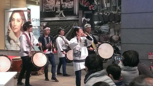 2018初打ち 青葉台東急スクエア 和太鼓演奏1