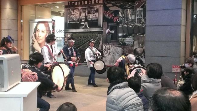 2018初打ち 青葉台東急スクエア 和太鼓演奏2