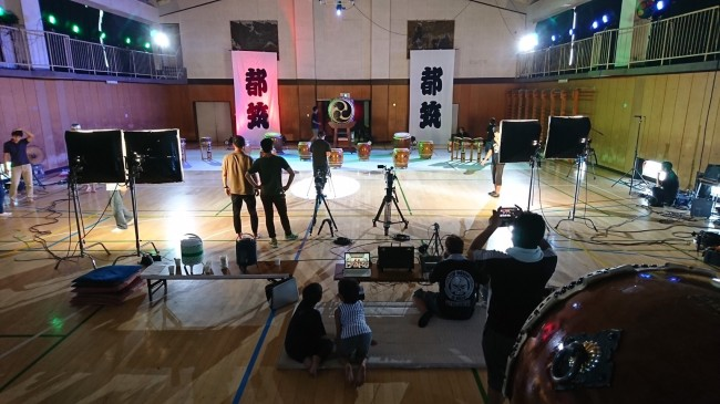 横浜都筑太鼓 プロモーションビデオ撮影5